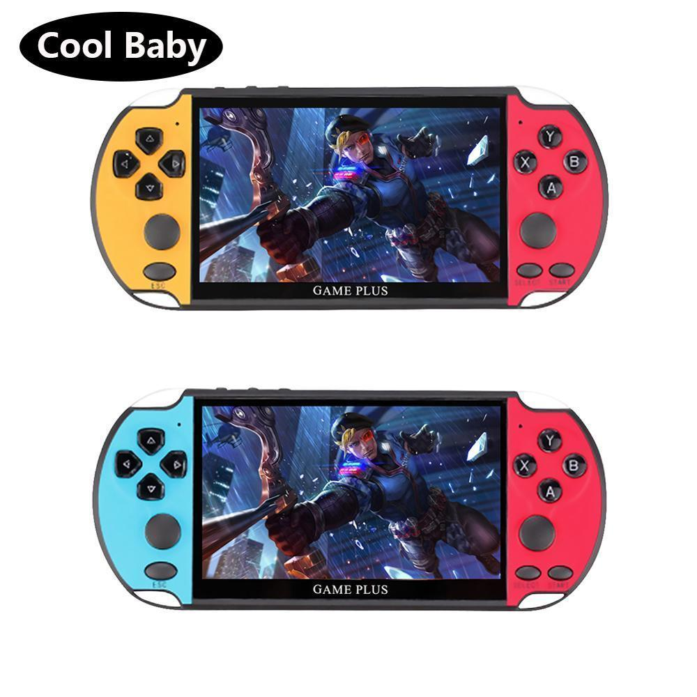 X7 Plus 5.1inch Video Game Console 8GB Double Rocker Handheld Game Player Portable Retro Console for Kids LJ201204