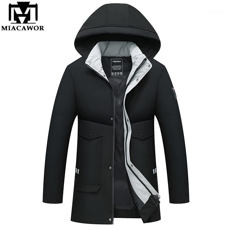 Зимняя куртка мужчины утолщенные теплые парки мужские пальто мода капюшона Casaco Masculino повседневная одежда J6411