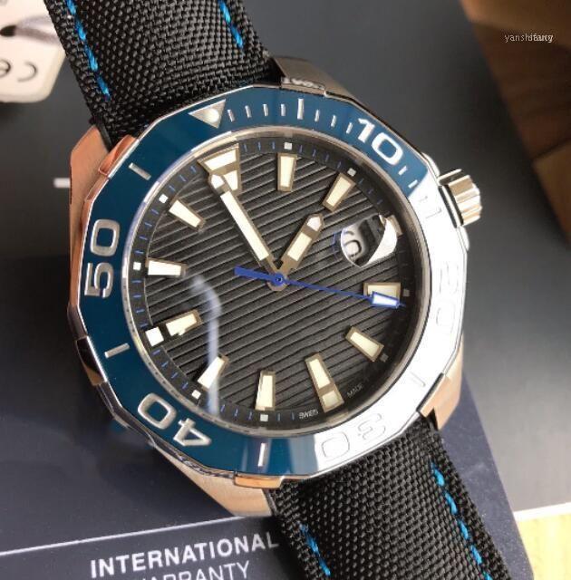 Homens assistem ao movimento automático 43mm banda de couro homens impermeáveis relógios de pulso de safira de cristal homens relógios luminosos11