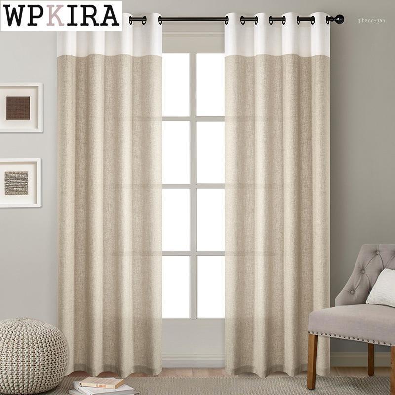 Современное сплошное цветное белье занавес для гостиной шить занавес для спальни драпировки готовое окно втулка Top Z200 # 401