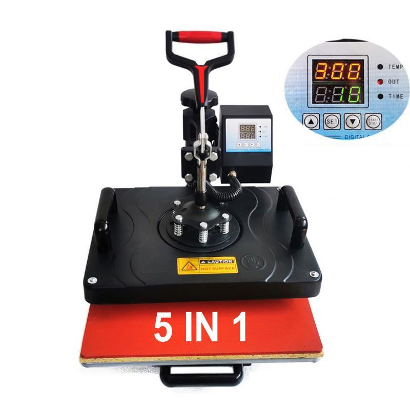 2021 أحدث آلة التسامي 5 في 1 القهوة القدح شيرت كاب ماكينات نقل الحرارة diy التسامي آلة الصحافة الرقمية dhl شحن مجاني