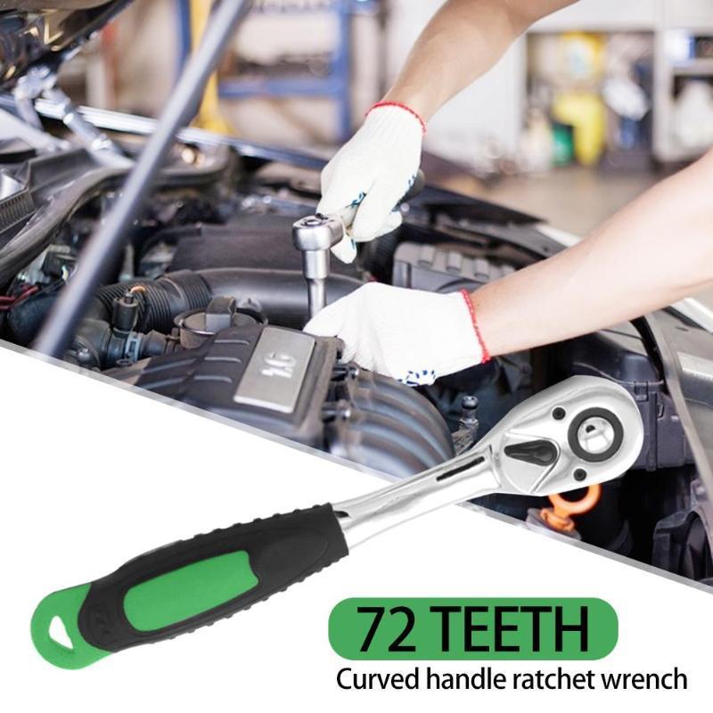 72 dents Ratchet Spanner Quick Release Socket pilote clé Allen réparation Clé désassemblage voiture d'outils à main réparation d'accessoires
