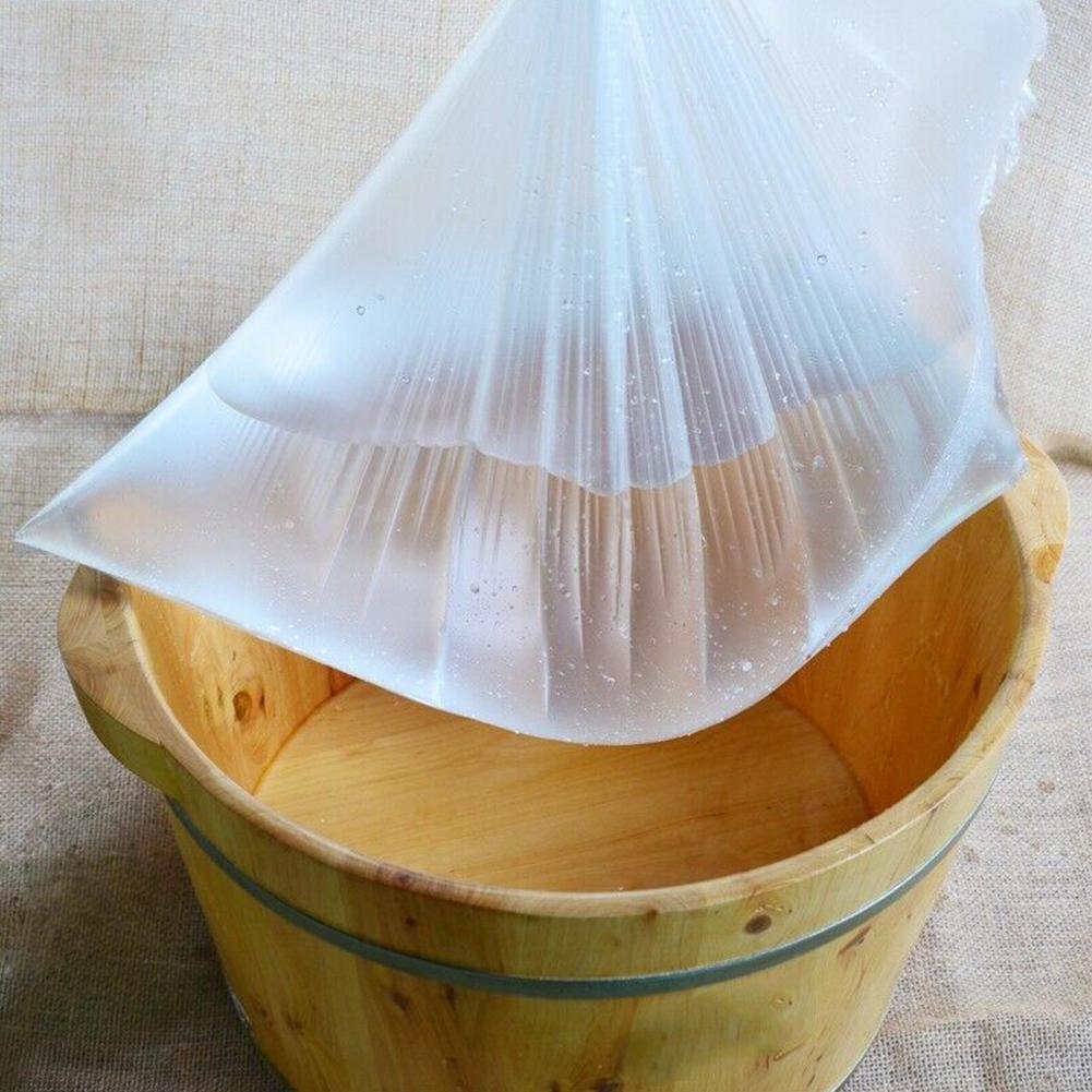 Pelle 90pcs bagno di casa bacino di sacchetti igienici cura Pedicure Spa leggero Foot Tub Liner monouso trasparente per l'ambiente