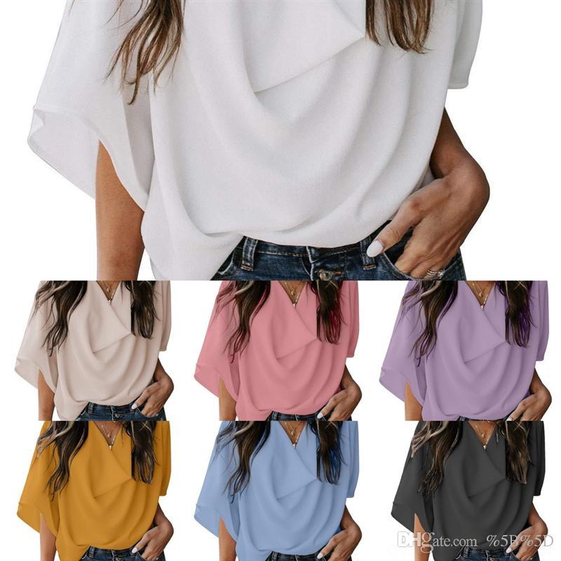 6WKW Marca italiana para hombre ropa de verano camisetas diseñador de color sólido de manga corta camisa blanca de manga corta Versión coreana suelta de la parte superior ultra insulada