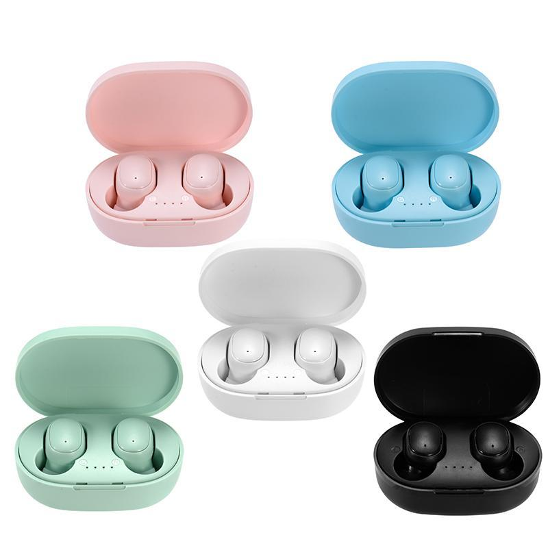 A6S Wireless Bluetooth 5.0 TWS Caixa de carregamento do fone de ouvido E6S Earbuds Ruído Cancelando auriculares de jogos para telefone inteligente PK Xiaomi Redmi Airdots