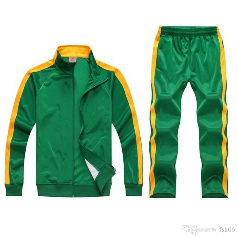 2020 Training Tracksuit Men Team Track Track Suit Zip Track Jacket Sweatpants Joggers Man Sportswear Sport Abiti da jogging Set