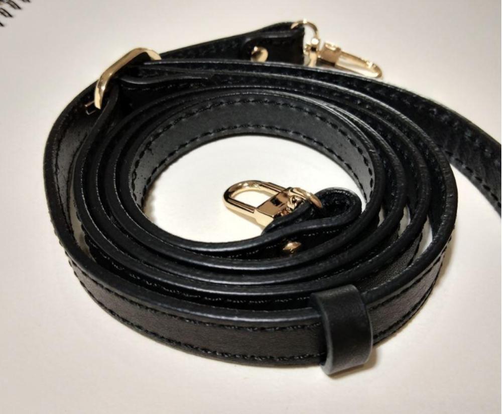 """Véritable 1.2cm en cuir (0,47"""" ) le remplacement de crossbody de luxe authentique de sangle de sac en cuir"""