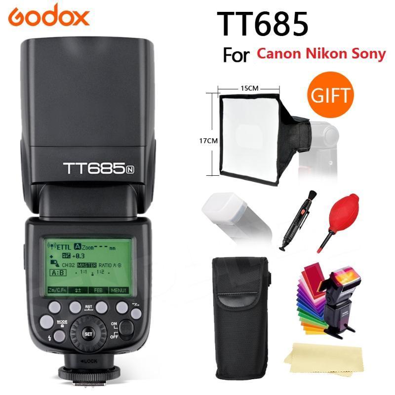 2020 Neueste Godox685 2.4G HSS 1 / 8000sL II GN60 Kamera-Blitz Speedlite für // DSLR-Kamera