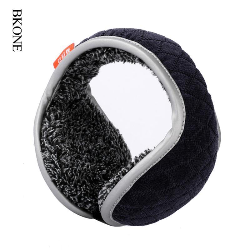 BKONE Winter-Earmuffs Männer faltbare Ear Muffs Zurück Wear Velvet Ohrwärmer Warm Plüsch Earflap Verstellbare Abdeckung Earbags