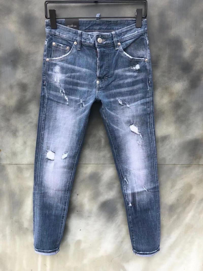 2020 Runway stile partito Europeo di Design di moda maschile THK09878 Jeans Abbigliamento Uomo