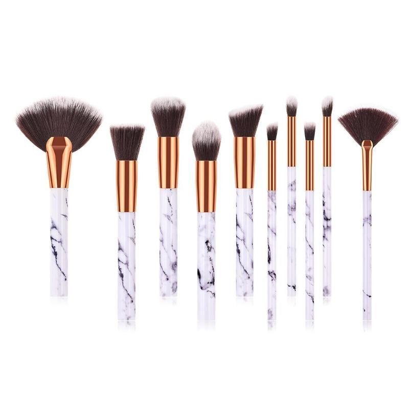 Escovas Set 10pcs profissionais Kits Foundation Pó Escova Concealer Sombra Lip Blending compo escovas