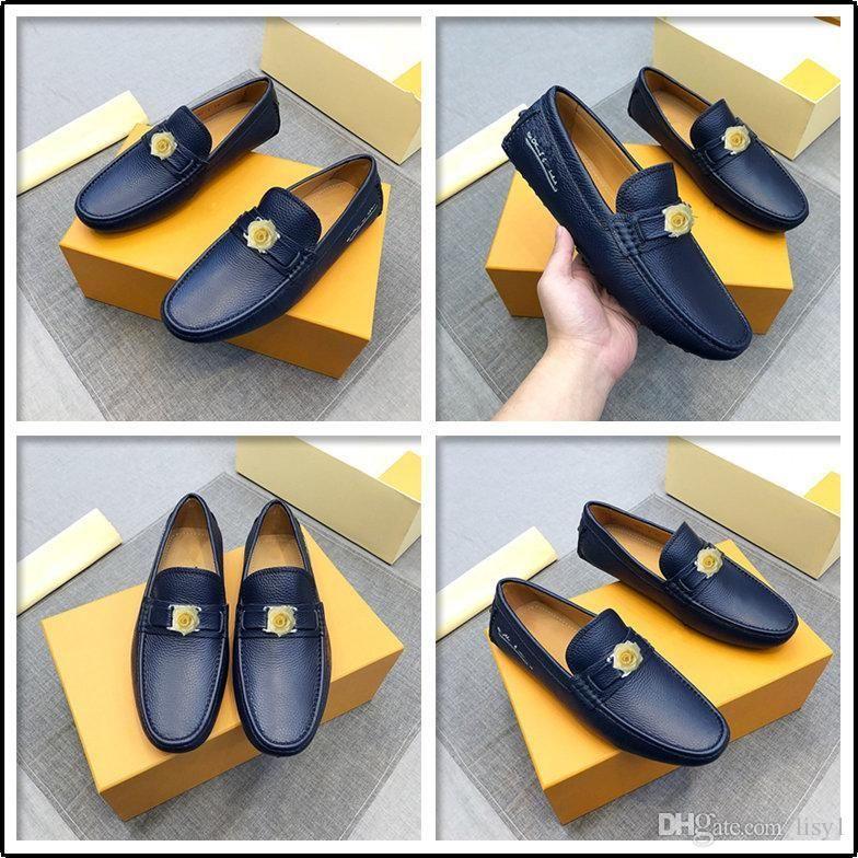 C3 Plus Größe 37-46 Männer Casual Schuhe MOCASSIN Designer Mode Elgant Luxus Herbst Schuhe Leder Social Slip On Müßiggänger Männer 22