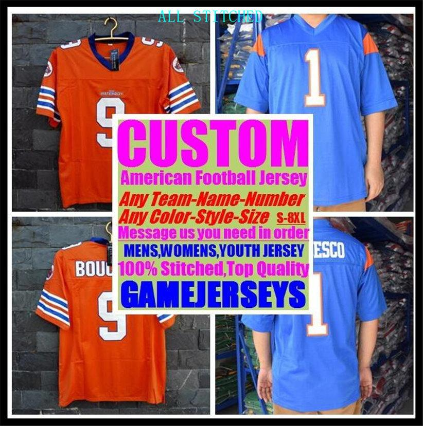 Custom American football Jerseys For Mens Womens Youth Kids BASEBALL ICE HOCKEY BASKETBALL Color basketball soccer jersey girls 4xl 5xl 6xl