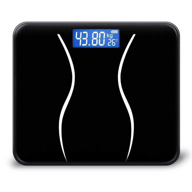 Pavimento de gordura corporal de vidro Escala inteligente Household Eletrônica Digital Weight Balance Bariátrica IMC LCD 180KG / 50G