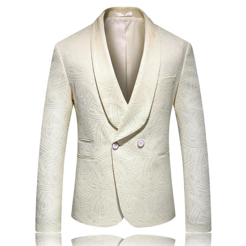 Hommes Marque veste Costume Blazer Spring Fashion One Button Cotton Slim Fit Hommes Costume TERNO Masculino Blazers