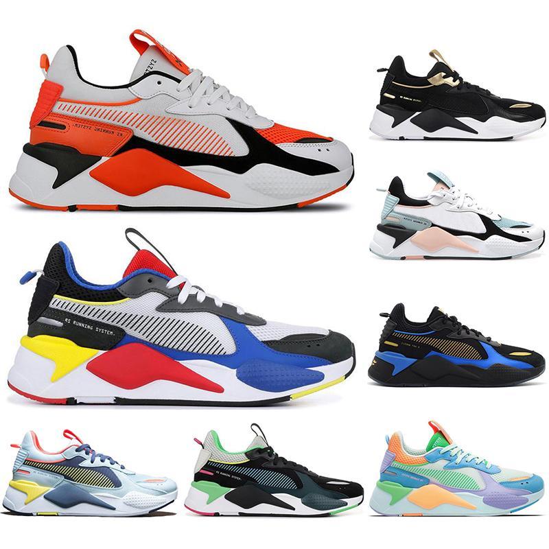 PUMA RS-X Laufschuhe für Männer Frauen Triple Black Weiß blau chaussures Außenatmungs Sport-Turnschuh Joggen Trainer Männer gute Qualität