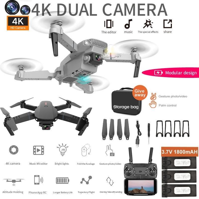 ZITY E88 PRO Mini Drohnen 4K Professional mit Dual Camera Visual 1080P Wifi FPV DRONE HEIGHTSPERVICATION RC Quadcopter 201221