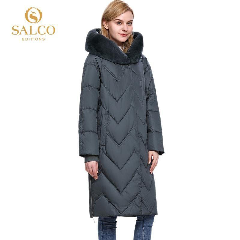 SALCO après livraison gratuite nouvelle veste cheveux chaud coton perle des femmes de vente manteau d'hiver 2020 véritable manteau de fourrure