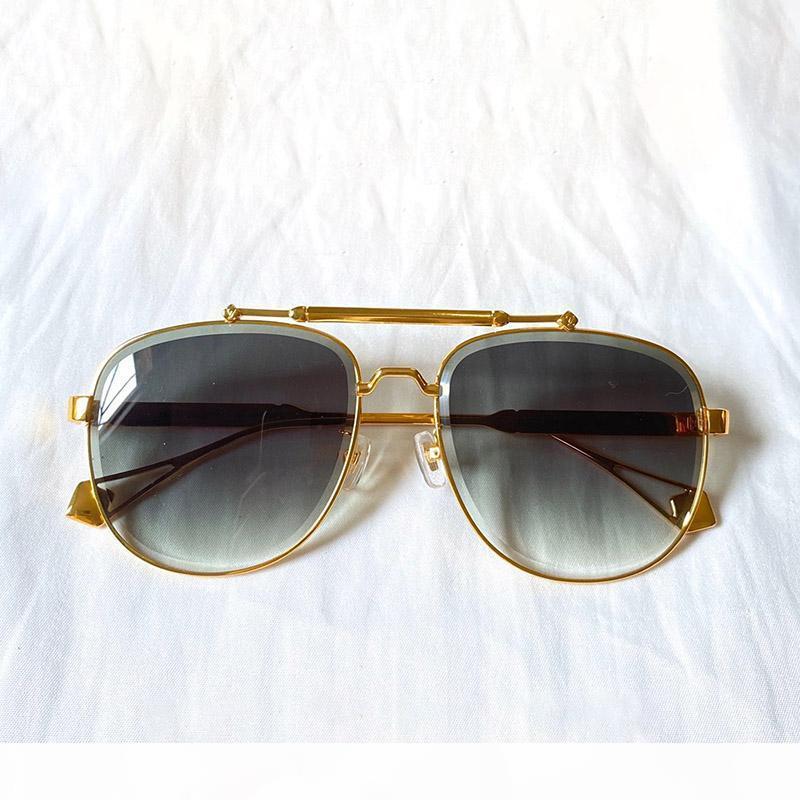 0973 Lunettes de soleil design Womens Sunglasses de cadre en métal ovale Charmant Style élégant Anti-Uv400 Loisirs Loisirs Loisirs avec CA