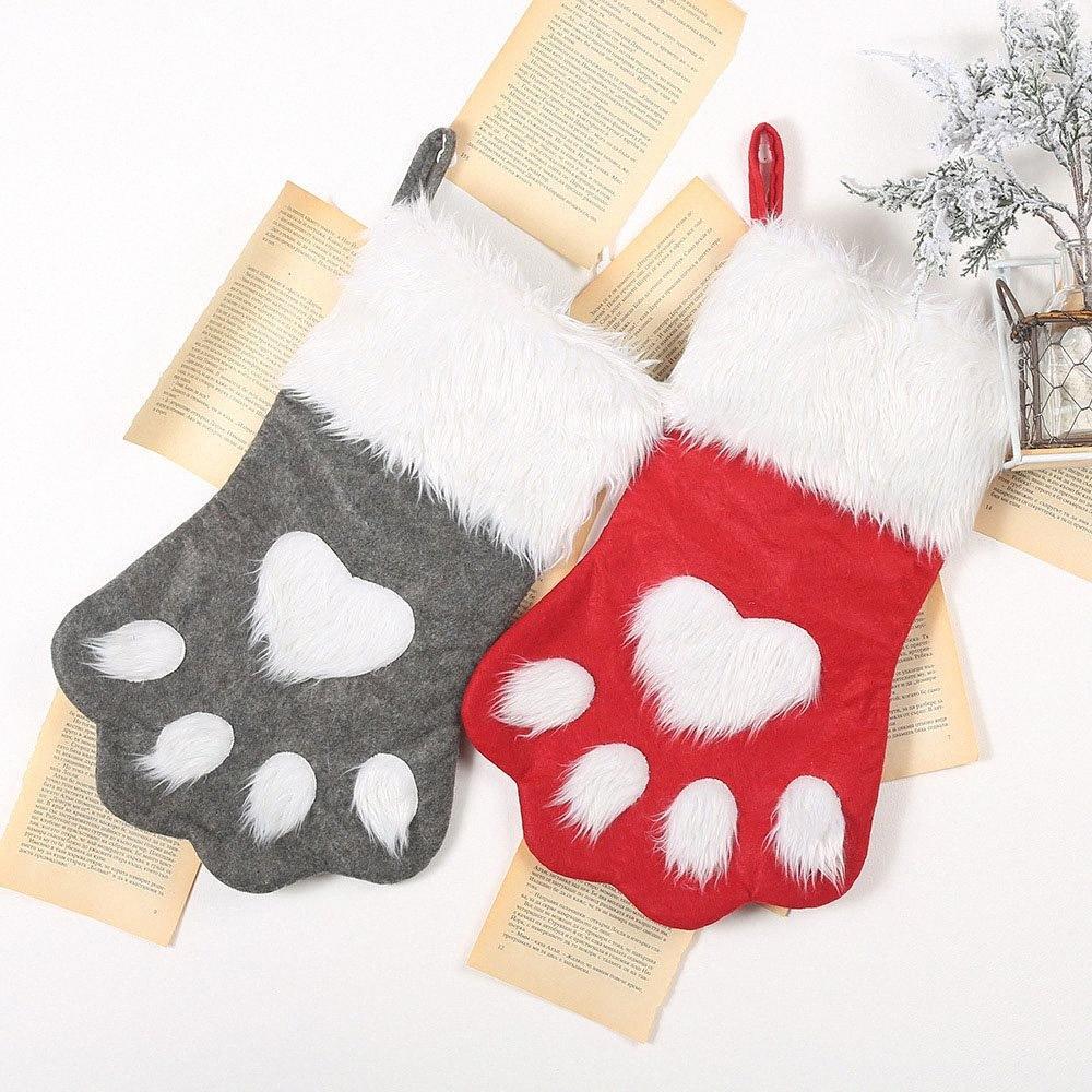 Sankt-Schneemann-Geschenk-Halter-Speicher-Beutel-Anhänger Weihnachtsbaum Wohnkultur Neujahr Strümpfe Socken Ornament Weihnachtsdekoration 62717 BX8k #