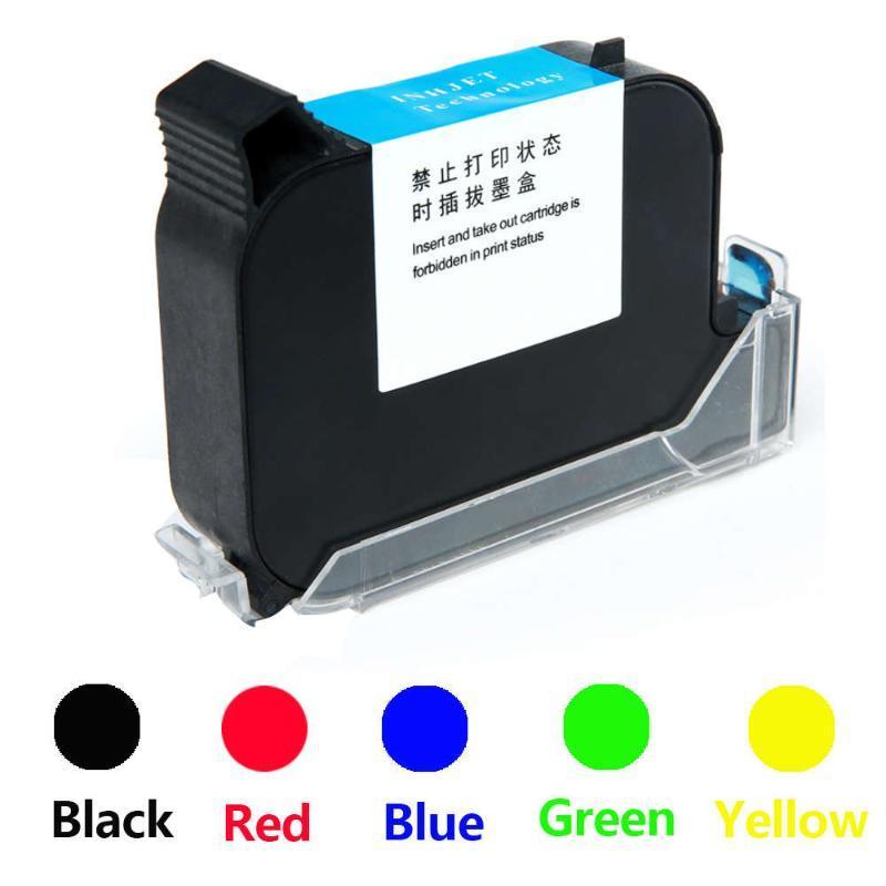 2588/2580 65ML Black Red Blue Green Printer Ink Cartridge Quick-drying 25.4mm Print Height Universal for Handheld Inkjet Printer