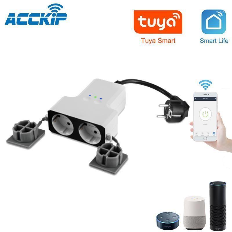 Acckip الولايات المتحدة واي فاي الذكية المقبس السلطة المكونات المخرج التحكم عن بعد يعمل مع Alexa Google Home 10A 2500W1