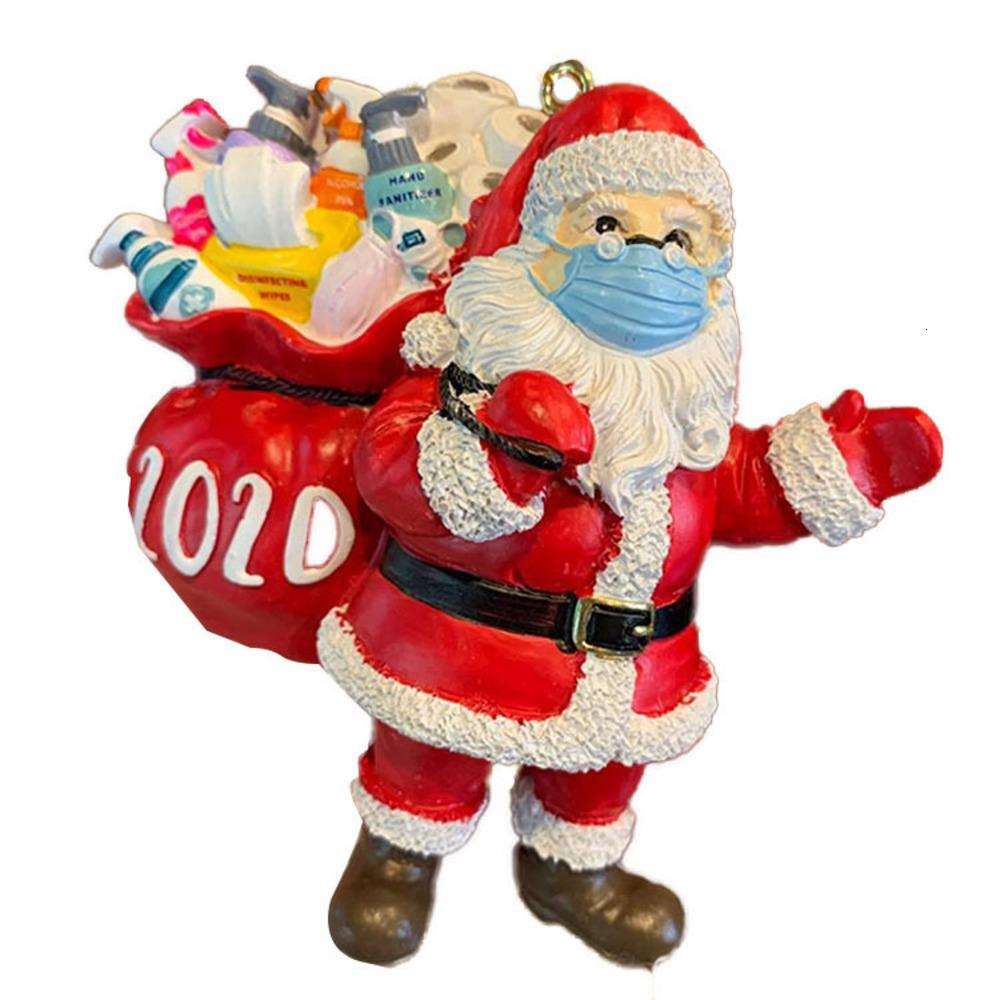 Выжившие 2020 Эпидемический Предотвращение стерео Смола маски Санта-Клауса подвеска рождественские украшения YNNZ