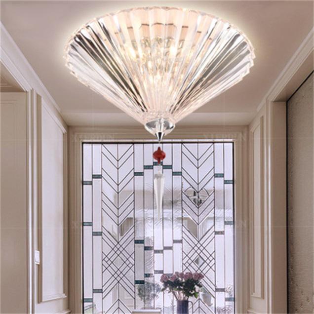 مصابيح LED الحديثة الكريستال مصباح السقف النمط الأوروبي بسيط غرفة المعيشة الإبداعية مصباح سقف الإضاءة والأثاث