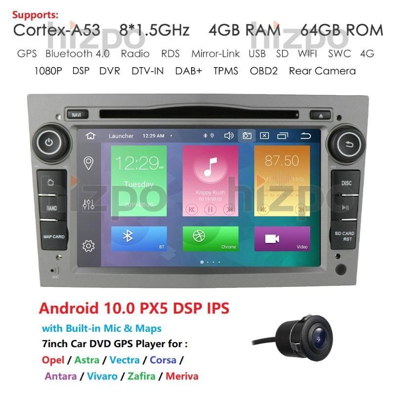 4G +64 ROM Android 10.0 Car Radio For Meriva/Zafira Vectra Vivaro Tigra TwinTopSWC WIFI DVR DAB DSP TPMS Russian English car dvd