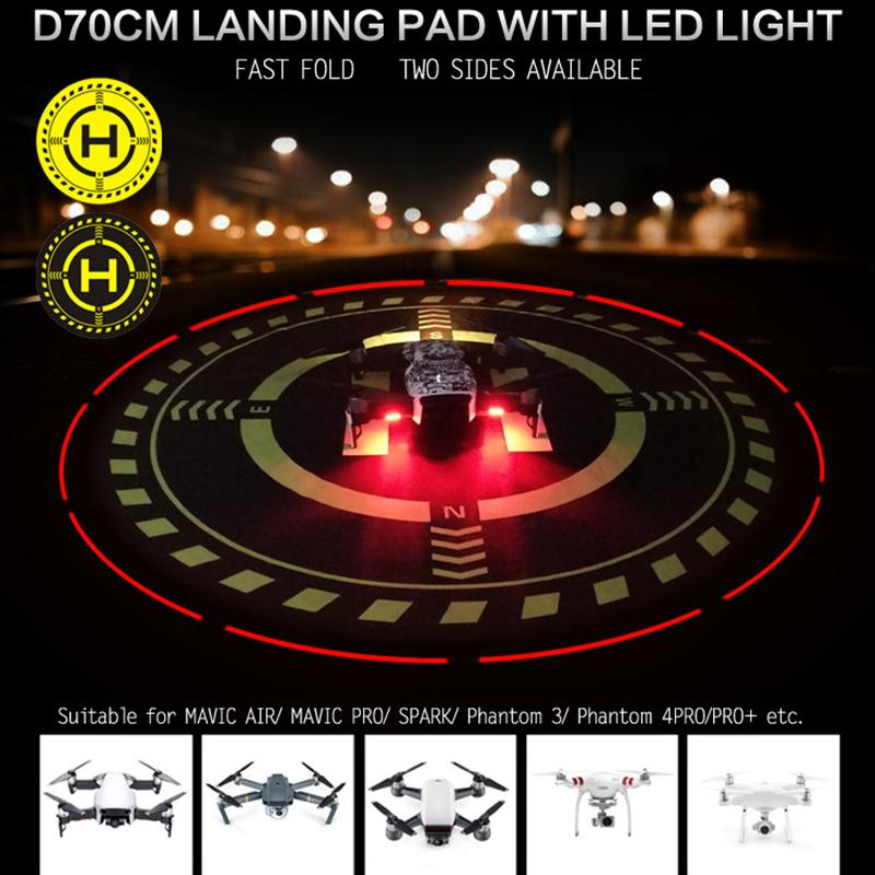 """2.555,75 centímetros impermeável landing pad"""" helicóptero portátil dobrável luz da noite levou para DJI mavic on1done ar Estacionamento Aid Avental"""