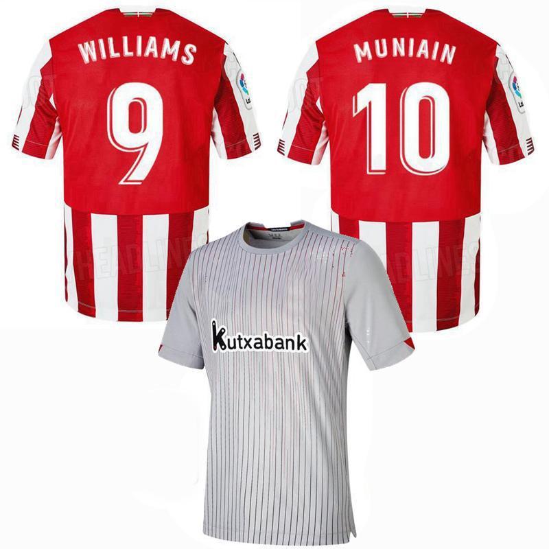 2020 2021 Bilbao Club Soccer Jerseys 20 21 Aduriz Muniain I.Martinez Williams Home Tome