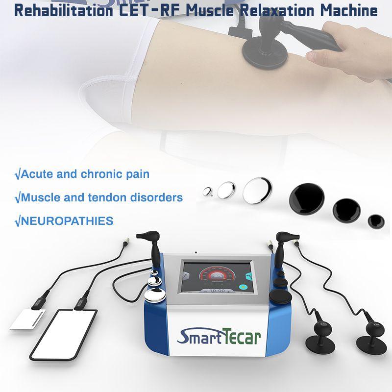 2 em 1 CETE RET Tecar Therapy Therapy Máquina de alívio da dor terapia e remoção de gordura Máquina de fisioterapia