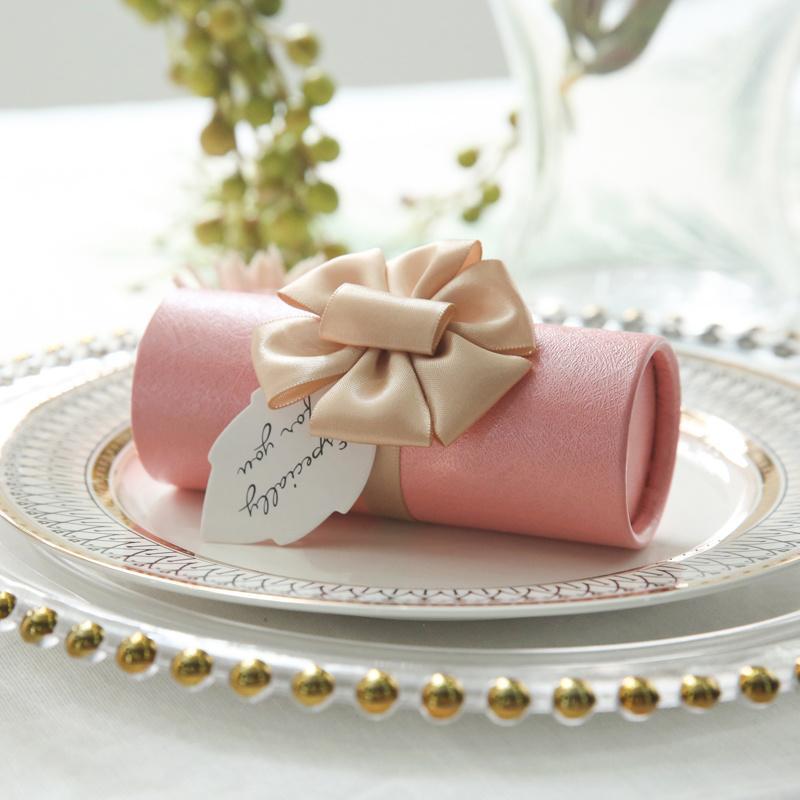 10PCS creativas del estilo coreano cajas de papel de la boda barril de dulces cajas del favor de la fiesta de cumpleaños caja de regalo de la personalidad