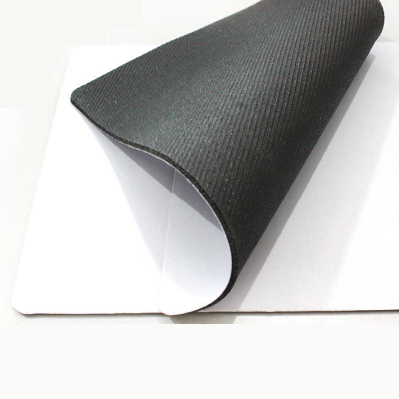 Lo nuevo de fábrica sublimación blanco al por mayor del ratón almohadilla de calor impresión por transferencia térmica de la almohadilla del ratón de goma personalizada bricolaje puede encargo su diseño
