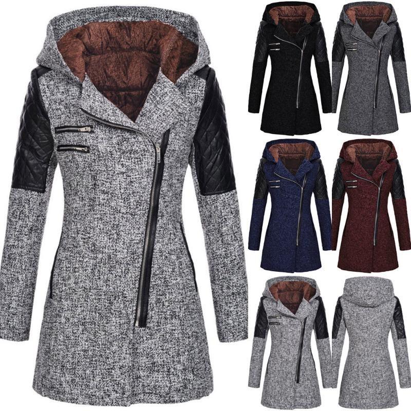 Winter Coat Women Warm Slim Jacket Thick Overcoat Winter Outwear Zipper High Quality Coat Manteau Femme Abrigo Mujer 2021