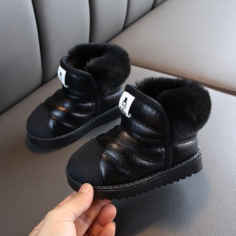 Зима Девочка Мальчики Снег сапоги Теплого Открытые Дети Boots Водонепроницаемого Покрытие Дети Плюшевые сапоги младенческого Хлопок обувь 201020