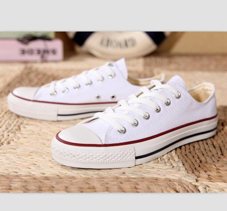 2021 Novo Tamanho Grande 35-46 Sapatos Casuais Low top Style Sports Stars Chuck Clássico Lona Sapatos Sapatilhas Masculinos / Mulheres Sapatos de lona