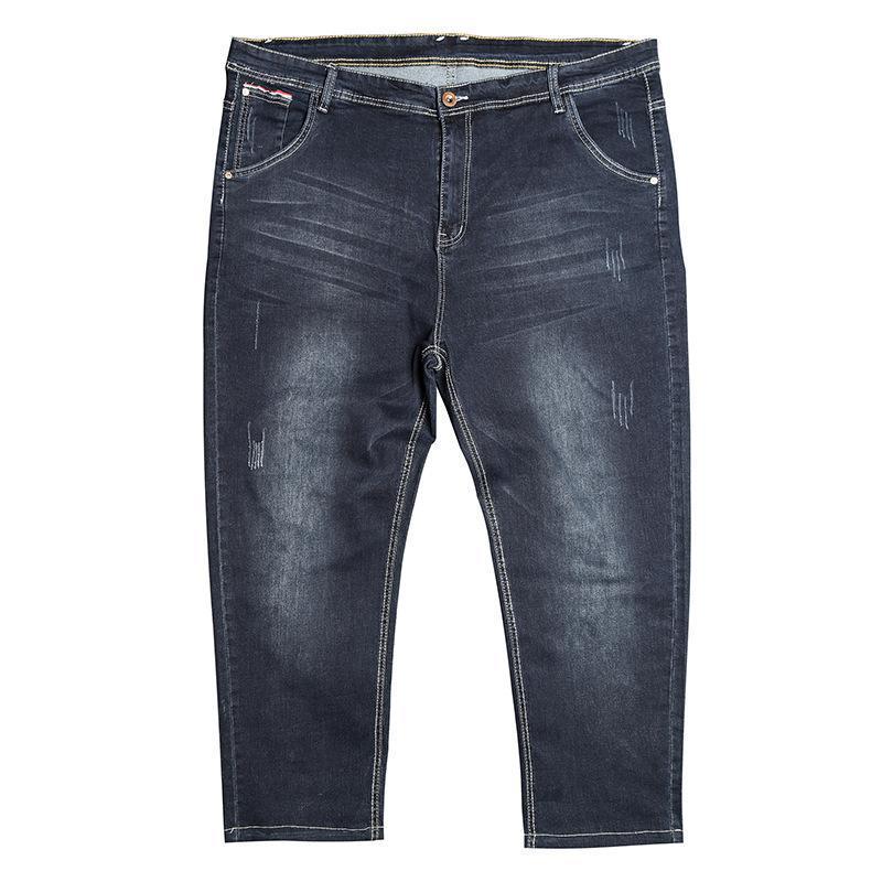 pantalon denim de grande taille 32-48 hommes nouveaux jeans denim simples pantalons longs hommes de section trend jean tout match lâche dropship extensible