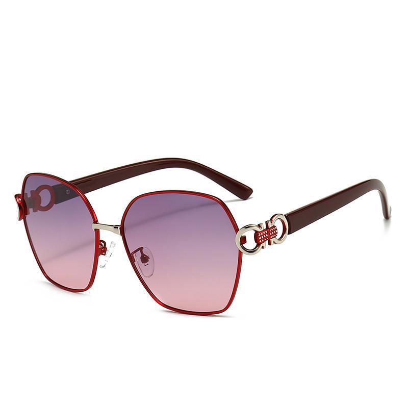 6217 جديد أزياء عالية الجودة مصمم نظارات عالية الجودة ماركة الاستقطاب عدسة نظارات الشمس نظارات للنساء النظارات إطار معدني