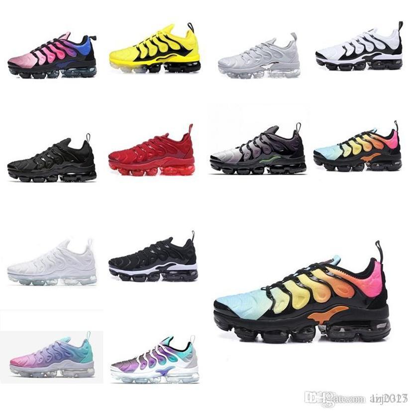 Nike air VM Vapormax MAX TN PLUS MENS mujer zapatos de medianoche gradientes de la marina de la medianoche azul coqueta de zapatillas de deporte púrpura Tamaño