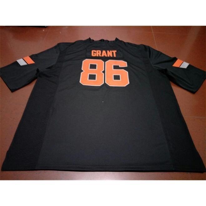 3421 # 86 Grant Negro Naranja Oklahoma State Cowboy Alumni College Jersey o personalizado Cualquier nombre o número Jersey