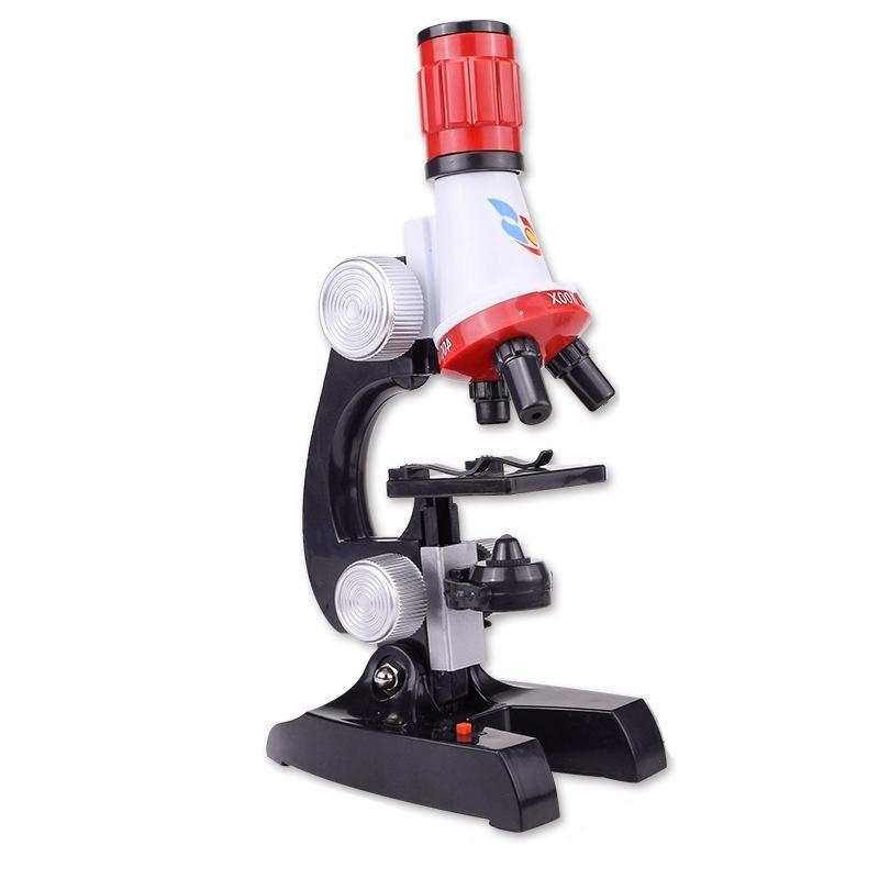 Kit Lab con il supporto del telefono Scuola LED Scienza giocattolo educativo raffinato Microscopio biologico per il regalo bambini