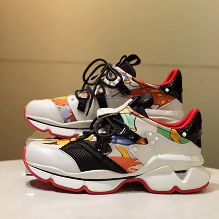 2021 NUEVA LLEGADA KRYSTAL SPIKE SKETE Sneakers Diseñador de zapatillas de deporte Hombres Red Bottoms Zapatos para mujer Rivet Spiky Sock Junior Spikes Zapatos planos