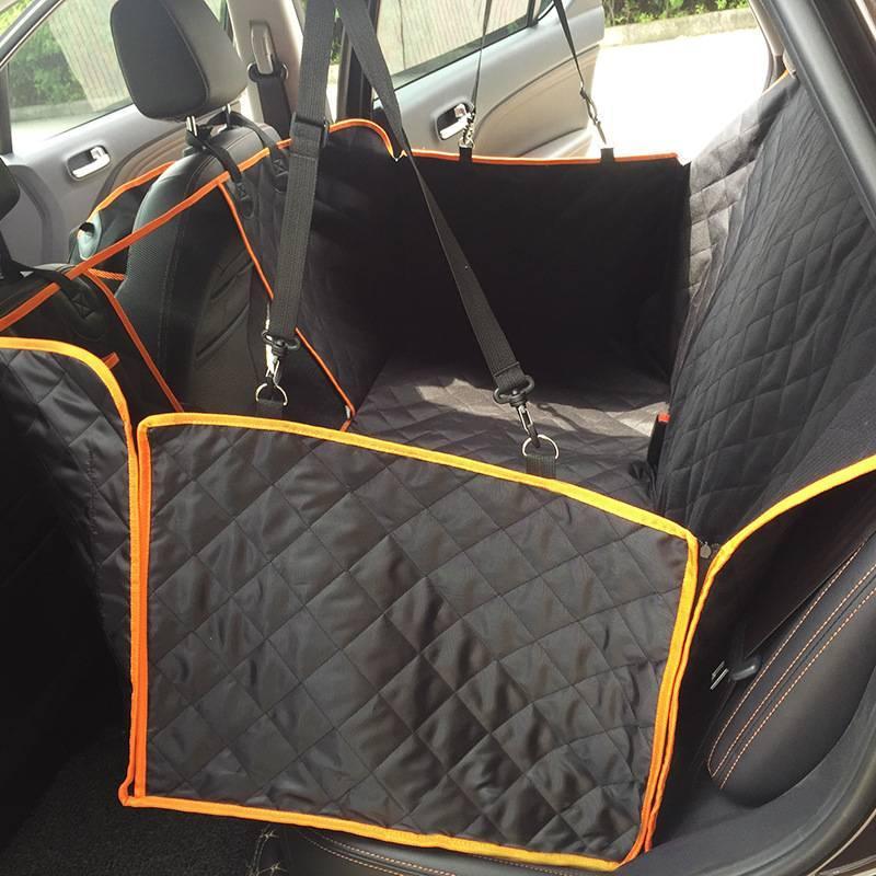 Hundehäuser 100% wasserdichte Hundeauto-Sitzbezüge mit Mesh-visuellen Fenster für Autos Trucks SUV