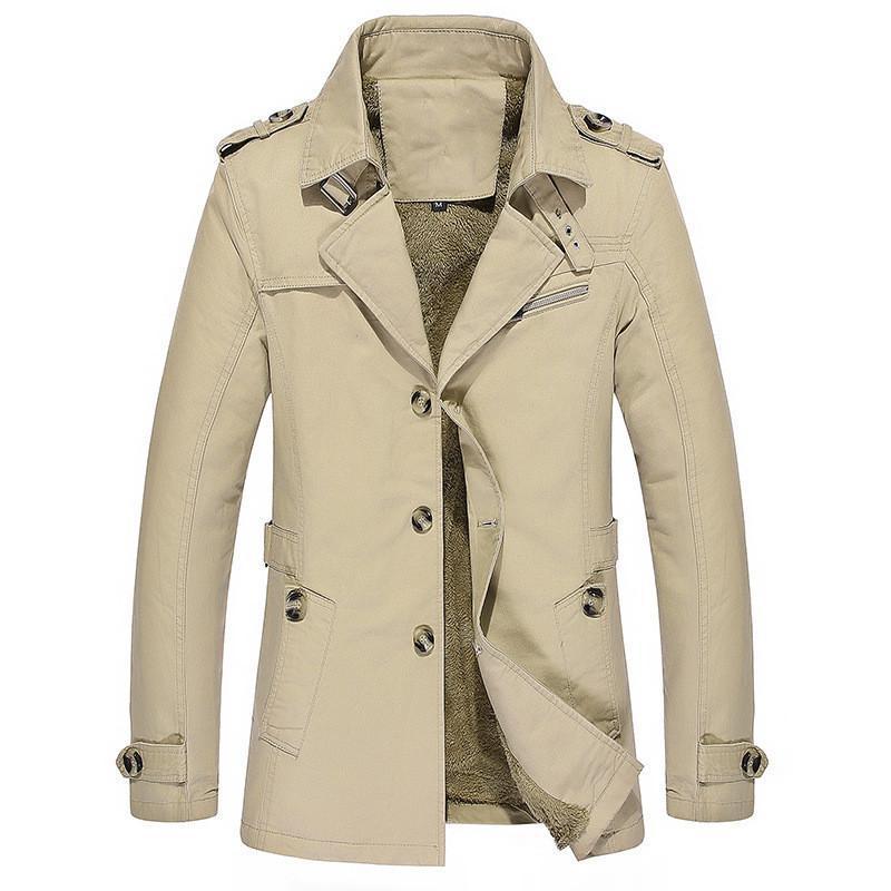 Chaquetas para hombres Llegada Chaqueta de invierno Hombres Grueso Warm Warm Leaner Coat Casual Winderbreaker Outerwear Outer Size 5XL Ropa para hombre