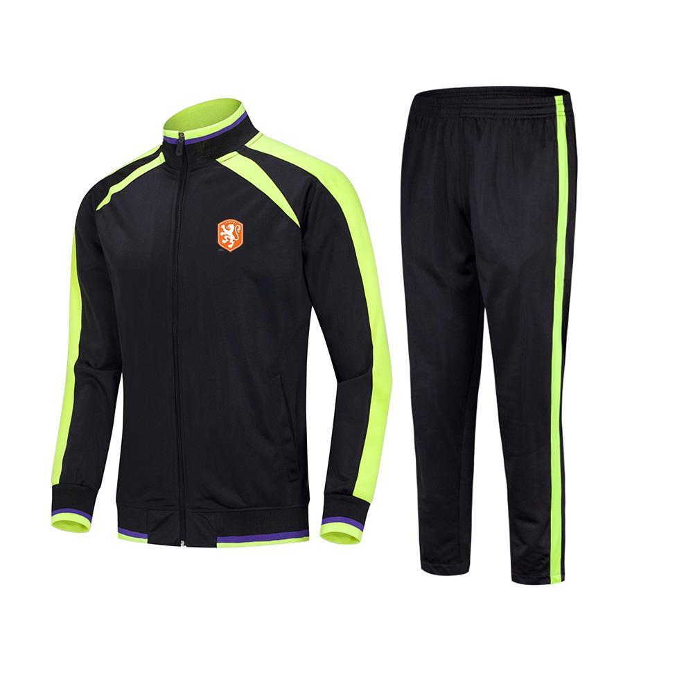 20/21 Niederlande Fußballmannschaft Erwachsene Kinder Fußball Jersey Winter Sets Custom Sport Uniformen Fußball Trainingsanzüge