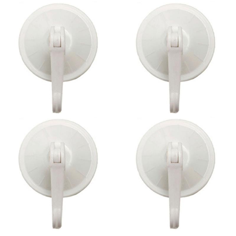 4 pcs 5,5 cm removível Suspensão redondo do banheiro do banheiro forte gancho sem emenda plástico ventosa vácuo