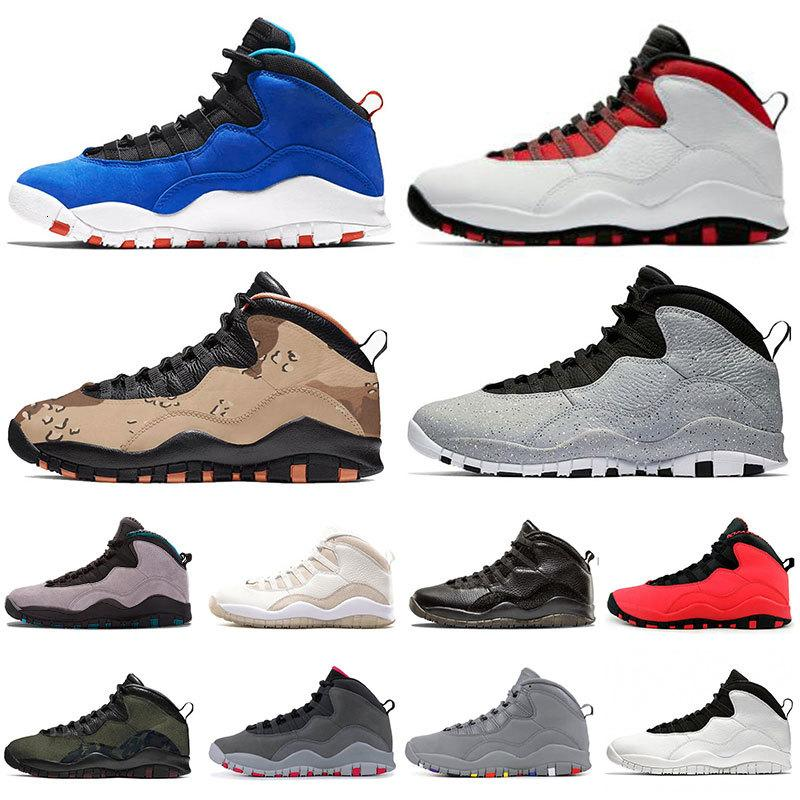 Nouveau Jumpan Mens Chaussures 10 Desert Camo GS Fusion Rouge 10S Stay Smoke Grey Tinker Ciment Woodland Camo Hommes Sneakers Chaussures