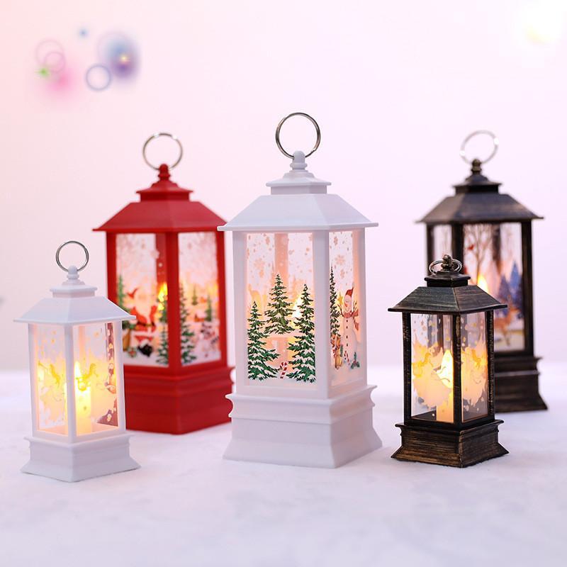 010 hot selling Cross-border Christmas pumpkin lantern simulation flame lamp Christmas tree ornaments shopping mall window bar decoration