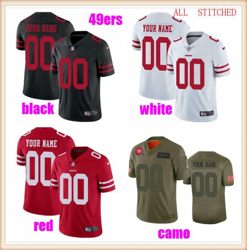 Custom American Football Jerseys para hombres para mujer Jóvenes Niños NFC AFC Equipos Auténticos Fans Color Baseball Soccer Jersey Rush 4xl 5xl 6xl